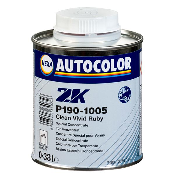 colorante para barniz rojo 2k 1005 de 0,33 litros para tintes en el barniz de vehículos