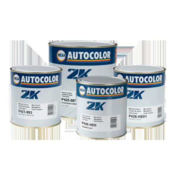 botes de pintura base disolvente de línea 2k para reparaciones en la carrocería de vehículos