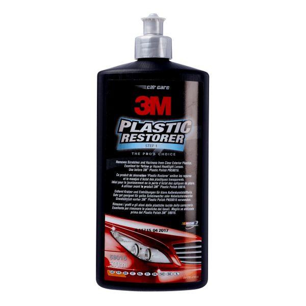 restaurador de plásticos 3M para la reparación de arañazos en los faros de vehículos