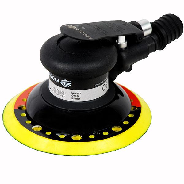 la lijadora neumática profesional sagola L505 con oscilación de 5mm para acabados de máxima calidad en el lijado de coches