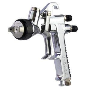 la pistola sagola storm de 1.40mm es una pistola aerográfica de gravedad para procesos de acabado en pintura de coches