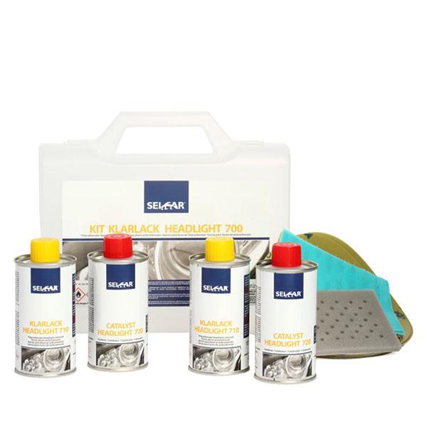 kit barniz para faros en policarbonato marca seicar para protección y resistencia en el repintado de vehículos