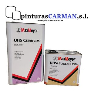 kit barniz max meyer uhs 0325 y catalizador UHS 2:1 para acabados bicapa Aquamax